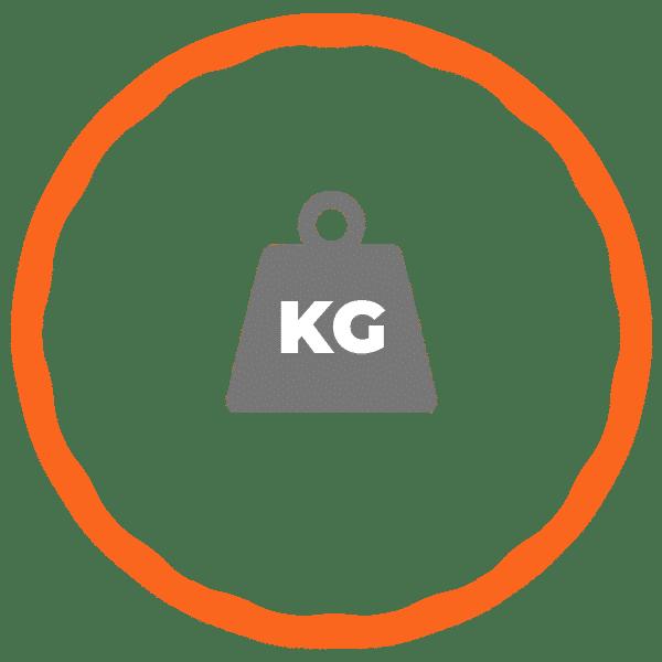 Gewicht van een fitnesshoelahoep icoon