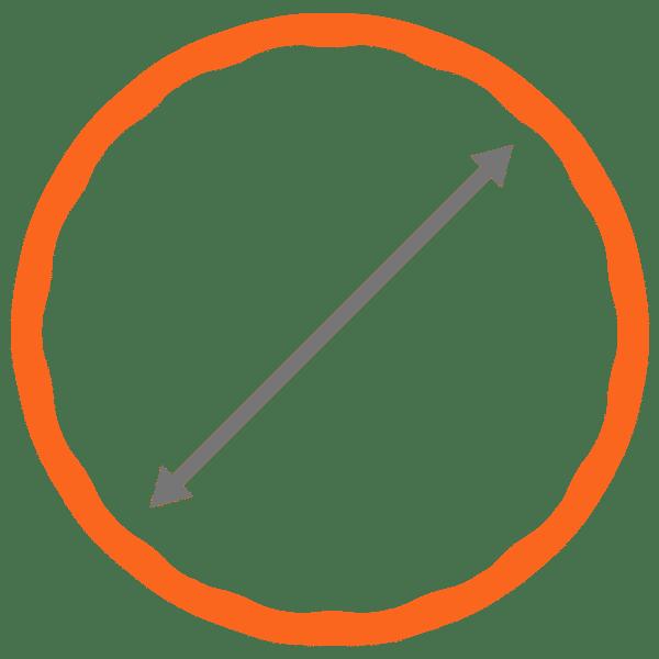Grootte van een fitnesshoelahoep icoon