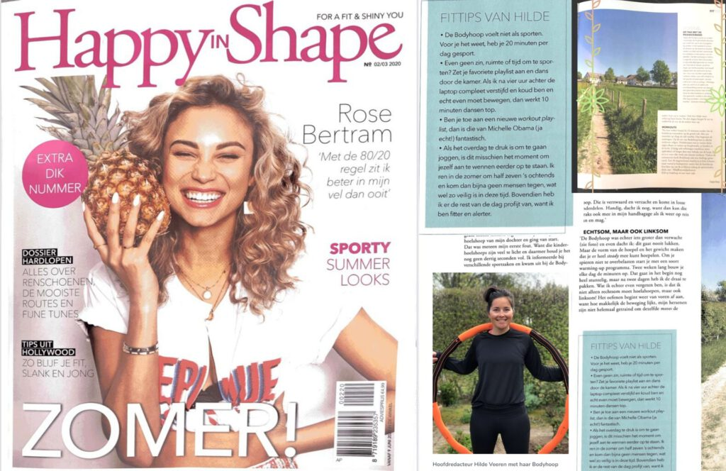 Bodyhoop in Happy in Shape, hoofdredacteur Hilde Veeren