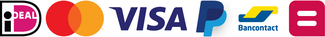 Veilig betalen bij Bodyhoop logo's